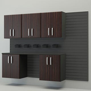 Flow Wall Complete Workstation Brown