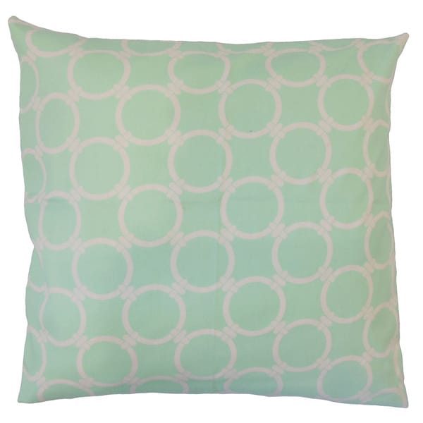 Kehinde Geometric 18-inch Feather and Down Filled Throw Pillow