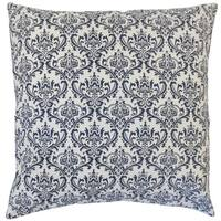 Laibah Damask 18-inch Feather and Down Filled Throw Pillow