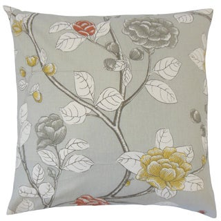 Pallavi Floral 18-inch Feather and Down Filled Throw Pillow