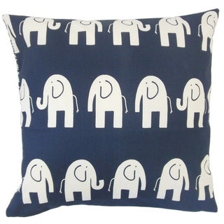 Horton Graphic 18-inch Feather and Down Filled Throw Pillow