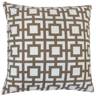 Ianto Geometric 18-inch Feather and Down Filled Throw Pillow