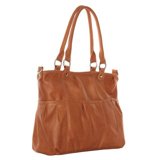 Piel Leather Zippered Cross-Body Tote