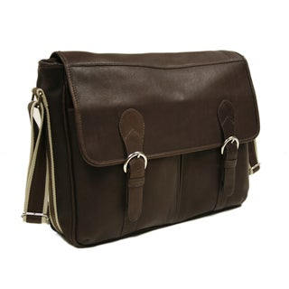 Piel Leather Classic Expandable Messenger Bag