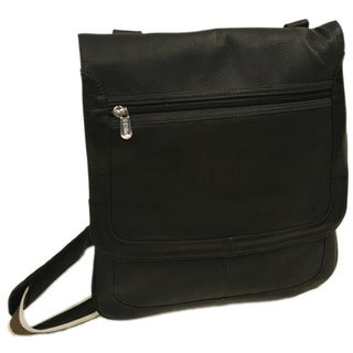 Piel Leather Small Vertical Messenger Bag