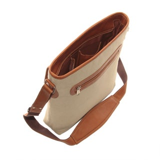 Piel Leather Front Flap Shoulder Tote Bag