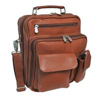 Piel Leather Multi-Compartment Travel Tote Bag