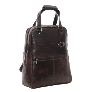 Piel Leather Vintage Laptop Convertible Travel Tote/ Backpack