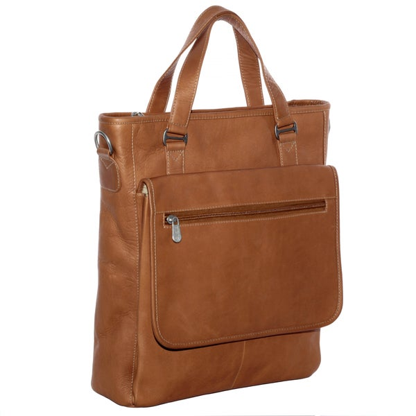 Piel Leather Laptop/ Tablet Carry-All Tote Bag