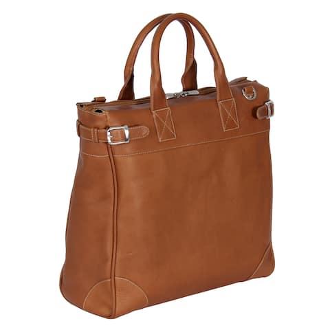 Piel Leather Cross Body Traveler Tote Bag