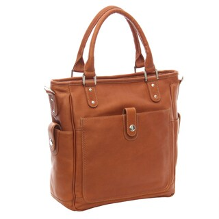 Piel Leather Tablet Cross-Body Tote Bag