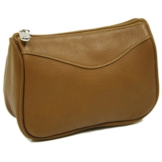 Piel Leather Carry-All Zip Toiletry Pouch