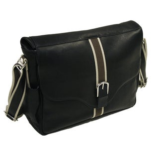 Piel Leather European Messenger Bag