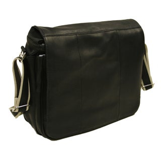 Piel Leather Expandable Messenger Bag
