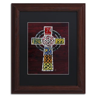 Design Turnpike 'Celtic Cross' Black Matte, Wood Framed Canvas Wall Art