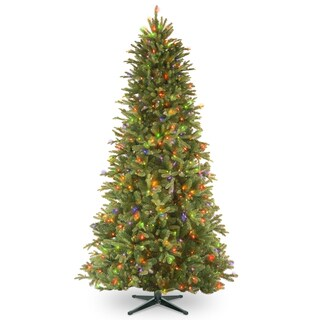 7.5-foot PowerConnect Tiffany Fir Slim Tree with Multicolor Lights