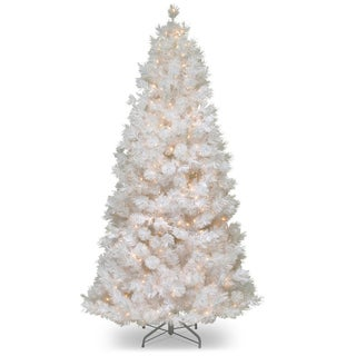 7.5-foot Wispy Willow Grande White Slim Tree with Clear Lights