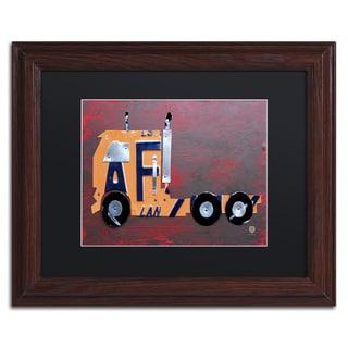 Design Turnpike 'Semi Truck' Black Matte, Wood Framed Canvas Wall Art