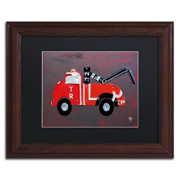 Design Turnpike 'Tow Truck' Black Matte, Wood Framed Canvas Wall Art
