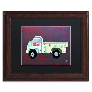 Design Turnpike 'Pickup Truck' Black Matte, Wood Framed Canvas Wall Art
