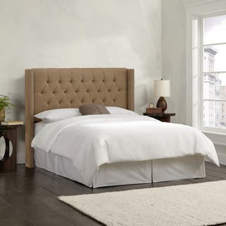 taupe bedroom. Skyline Furniture Linen Taupe Diamond Tufted Wingback Headboard Bedroom For Less  Overstock com