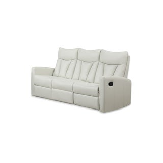 Reclining-Sofa Ivory Bonded Leather