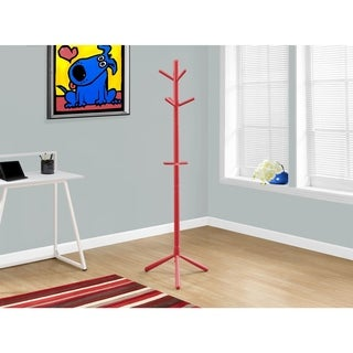 Red Wood 69-inch Coat Rack
