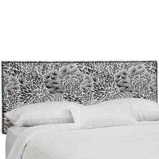 Skyline Furniture Hanabi Burst Ink Nail Button Border Headboard