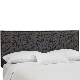 Skyline Furniture Urbano Charcoal Nail Button Border Headboard