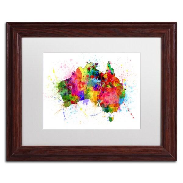 Shop Michael Tompsett \'Australia Paint Splashes Map\' White Matte ...