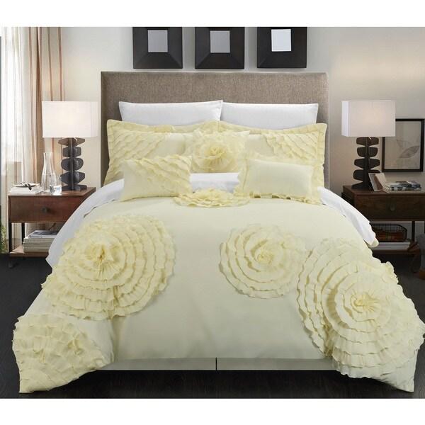 Chic Home 11-piece Buxton Beige Oversized Comforter Set
