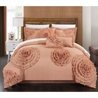 Shop Chic Home 11 Piece Buxton Peach Oversized Comforter