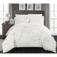 The Curated Nomad Hildy White 3-piece Duvet Cover Set