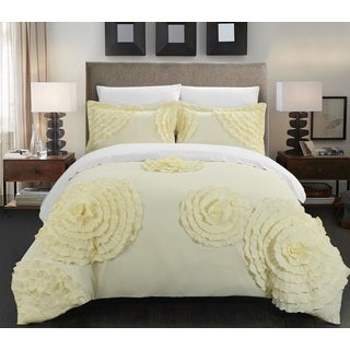Chic Home Marissa Beige 3-piece Duvet Cover Set