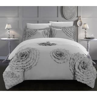 Maison Rouge Kathryn Silver 3 Piece Duvet Cover Set
