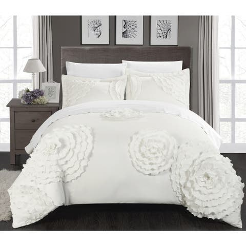 The Curated Nomad Hildy White 7-piece Duvet Cover Set