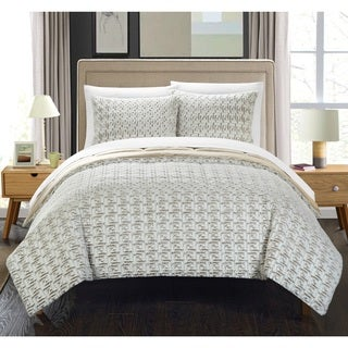 Chic Home Livadia Beige Queen 3-piece Comforter Set