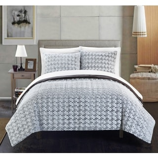 Chic Home Livadia Grey Queen 3-piece Comforter Set
