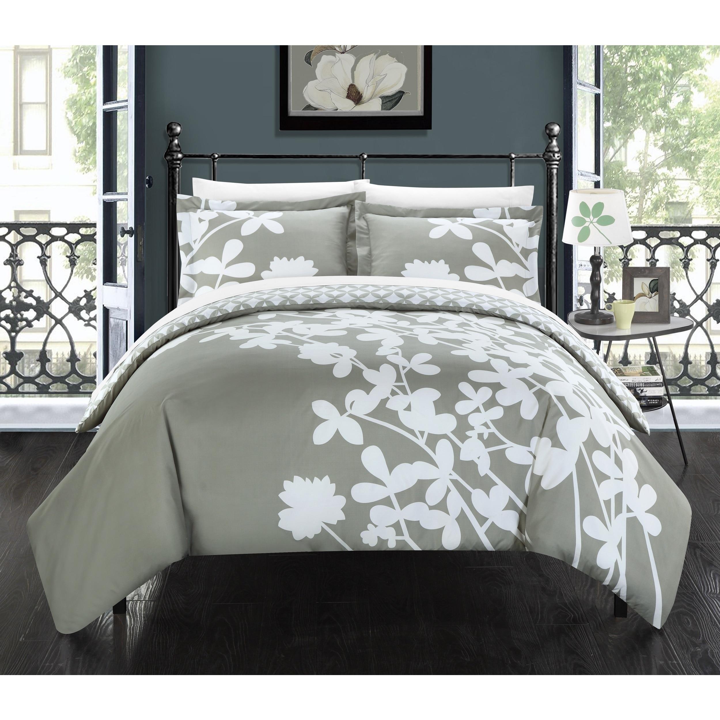 Chic Home Casa Blanca Grey Reversible 3-piece Duvet Cover...
