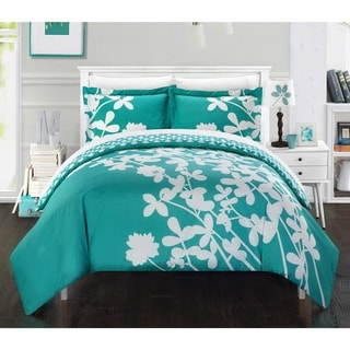 Chic Home Casa Blanca Turquoise Reversible 7-piece Duvet Cover Set