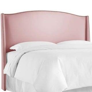 skyline furniture shantung wood rose nail button wingback headboard