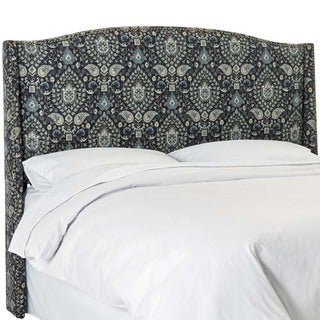 Skyline Furniture Telesto Moonlight Nail Button Wingback Headboard