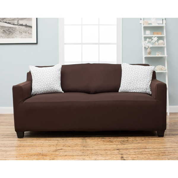 Dawson Collection Twill Form Fit Sofa Slipcover Free Shipping