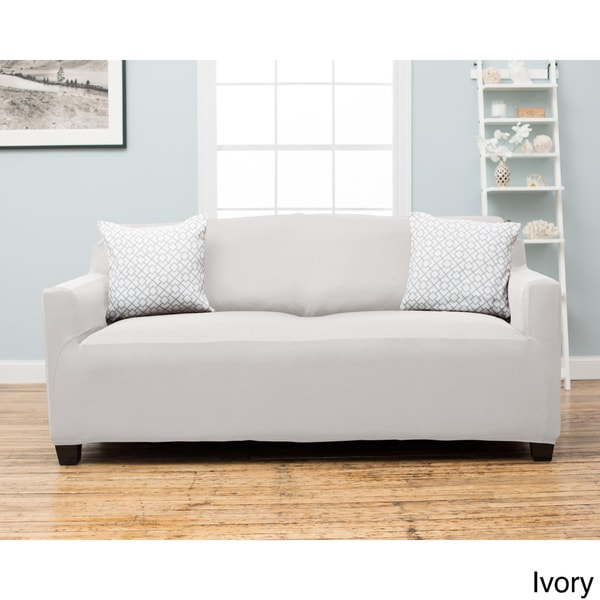 Dawson Collection Twill Form Fit Sofa Slipcover - Free Shipping On ...
