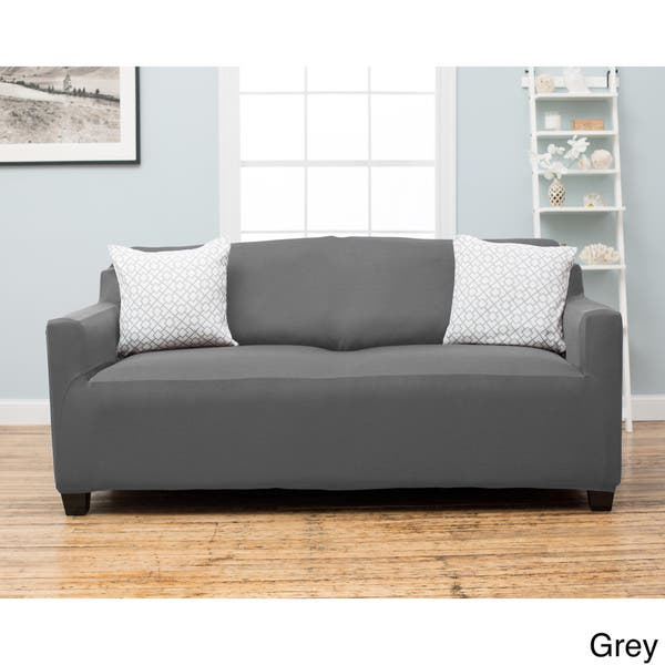 Shop Home Fashion Designs Dawson Collection Twill Form Fit Sofa Slipcover Overstock 10898238