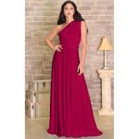 KOH KOH Womens Bridesmaid Convertible Wrap Long Elegant Cocktail Gown