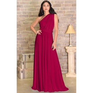 KOH KOH Womens Bridesmaid Convertible Wrap Long Elegant Cocktail Gown