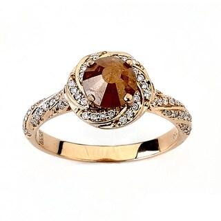Neda Behnam DFAC 18k Rose Gold 1 1/2ct TDW Yellow Diamond Ring