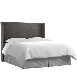 Skyline Furniture Zuma Charcoal Wingback Headboard
