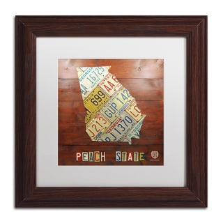 Design Turnpike 'Georgia Map' White Matte, Wood Framed Canvas Wall Art